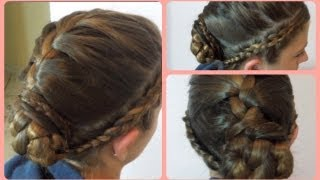 Triple Braided Hair Updo