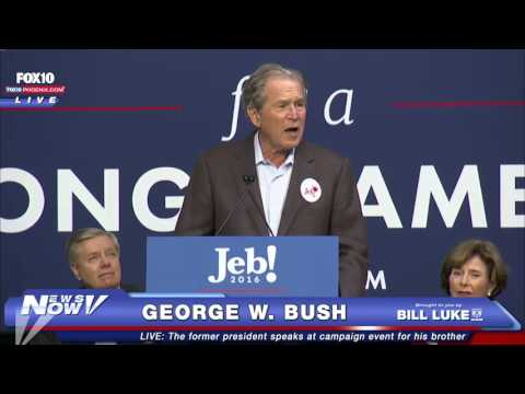 FNN: President George W. Bush Speaks in South Carolina at Jeb Bush Rally