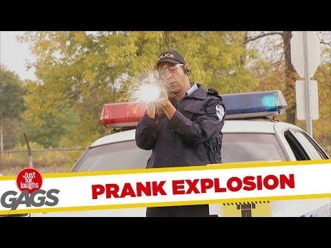 Versteckte Kamera - Rocket Launcher EXPLOSION Prank