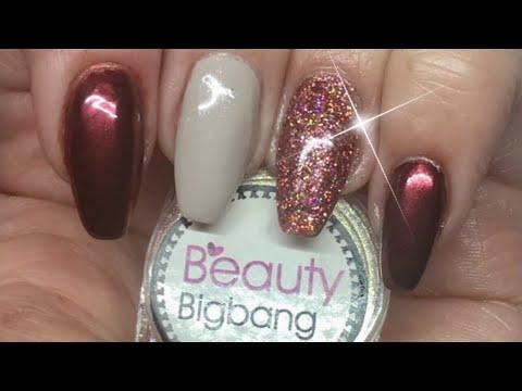 Beauty Bigbang Review: Rose Gold Powder/Holo Glitter