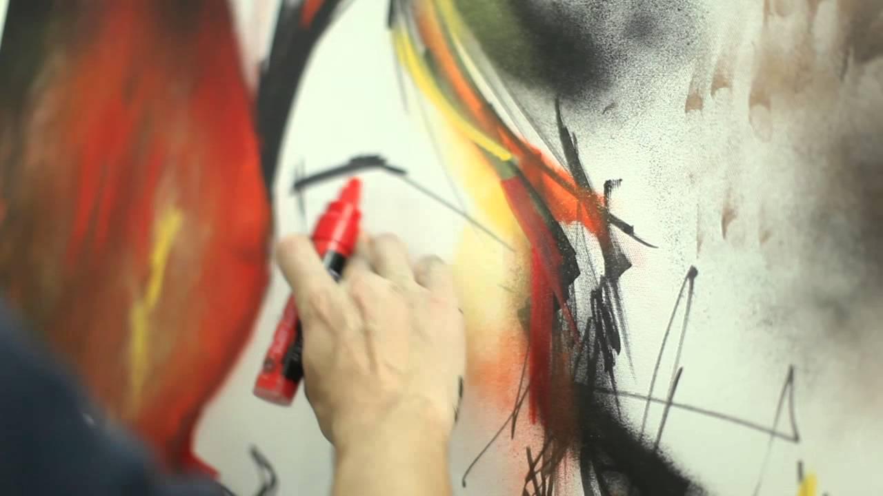 Paint Marker Art On Canvas