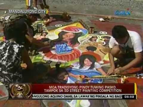 0 - News: 24 Oras: Mga tradisyong Pinoy tuwing Pasko, tampok sa 3D street Painting Competition - Philippine Daily News