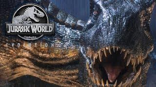 Jurassic World Evolution Dino Fights - T-Rex vs Spinosaurus vs Indominus Rex & Raptors breaking out!