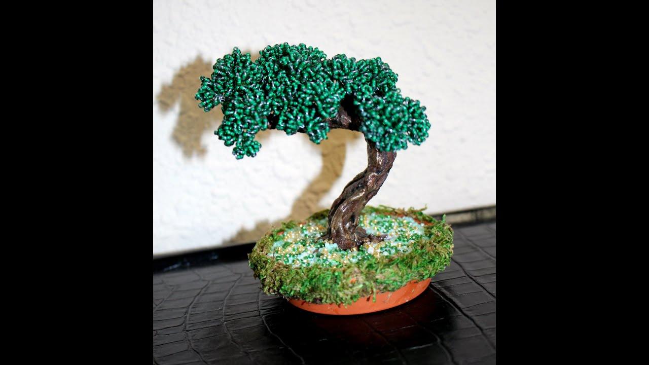 Как сделать дерево бонсай из бисера своими руками