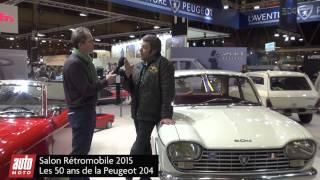 Rétromobile 2015 - Les 50 ans de la Peugeot 204