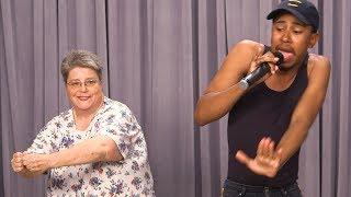 OMKalen Karaoke Battle: Kalen vs. Missy Elliott's Funky White Sister Mary Halsey