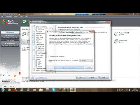 How to disable AVG Internet Security 2011