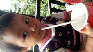 Expression of My Baby When Drinking Coke, LUCU BANGET