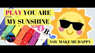 You Are My Sunshine Sing Along and Play on Xylophone | Learn Songs for Kids