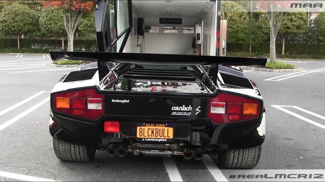 Lamborghini Countach 5000 Quattrovalvole S Start Up Youtube