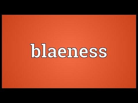 Header of blaeness