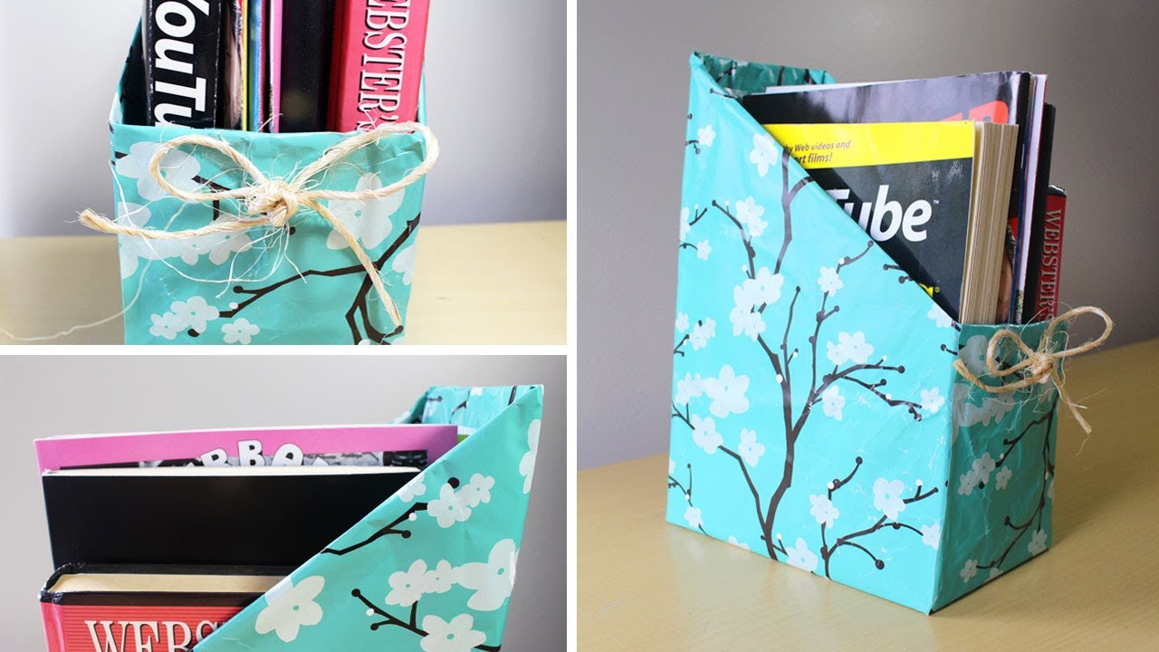 Diy Magazine Holder Youtube