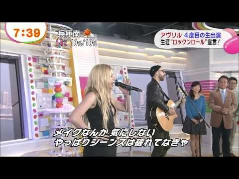 Avril Lavigne - Rock N Roll (acoustic)  Japanese Tv Show 18 11 2013 video