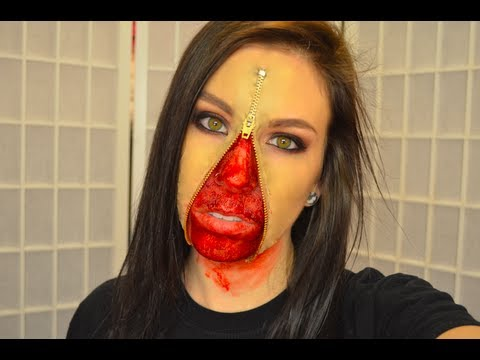 UNZIPPED ZIPPER FACE MAKEUP TUTORIAL | How To Make U0026 Do Everything!