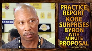 Lakers Practice: Kobe Bryant and Byron Scott Come To Agreement On Minutes