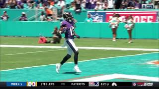 Hollywood Brown 83 Yard Touchdown | Ravens vs. Dolphins | NFL
