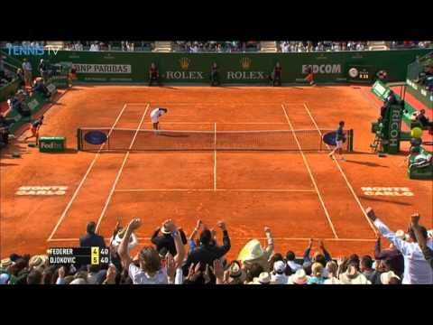 Roger Federer Uses Hot Shot To Win Over Djokovic in Monte Carlo