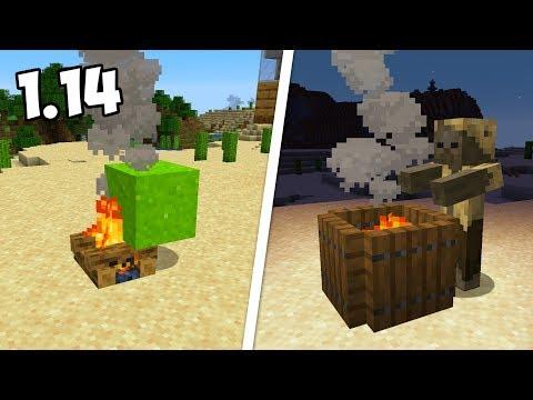 ИНТЕРЕСНЫЕ ПОСТРОЙКИ ИЗ НОВЫХ БЛОКОВ В МАЙНКРАФТ 1.14 / Minecraft 19w04a
