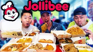 FILIPINO FAST FOOD IS THE BEST? JOLLIBEE'S ENTIRE MENU   // Fung Bros