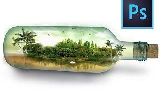 Photoshop Tutorial - island Photo manipulation Bulb