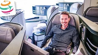 GRANDIOSER Flug: EVA AIR Business Class 16 Stunden! | GlobalTraveler.TV