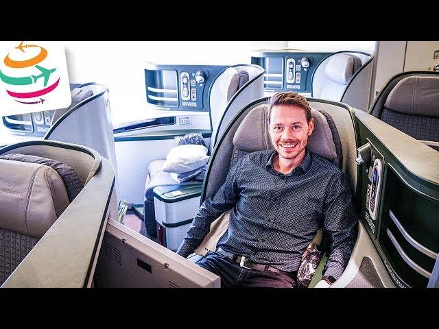 GRANDIOSER Flug: EVA AIR Business Class 16 Stunden!   GlobalTraveler.TV