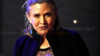 Star Wars actress Carrie Fisher dies at 60