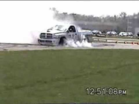 Dodge Ram Srt 10 Hennessey. Dodge Ram SRT-10 long burnout