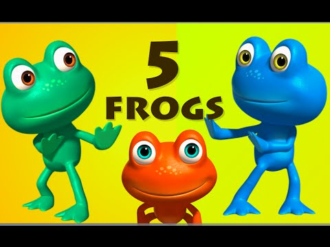 Five Little Speckled Frogs | 5 Little Speckled Frogs | 3D Rhymes For Children