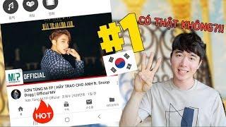 """""""Hãy trao cho anh"""" Sơn Tùng MTP  top1 thịnh hành Hàn Quốc !!"""