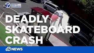 Skateboarder Pablo 'P-Spliff' Ramirez seen holding onto truck bumper before deadly crash