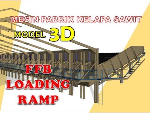 Menggambar model 3d loading r pabrik sawit by 7119dtk.wmv