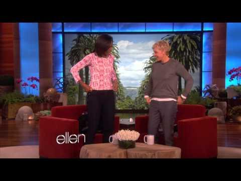 Can Ellen Do More Push-Ups Than Michelle Obama?