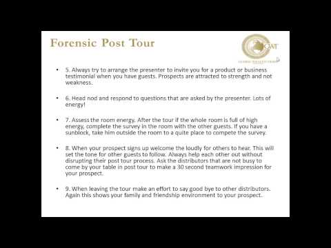Caribbean Explosion Team webinar   The Forensic Post Tour Decision