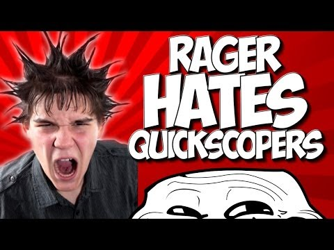 COD GHOSTS: RAGER HATES QUICKSCOPERS!! LOBBY TURNS ON HATER!!