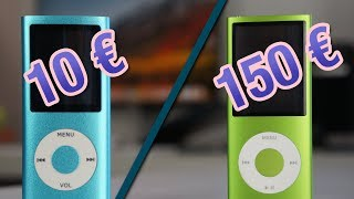 MP3 (10€) VS iPod (150€)