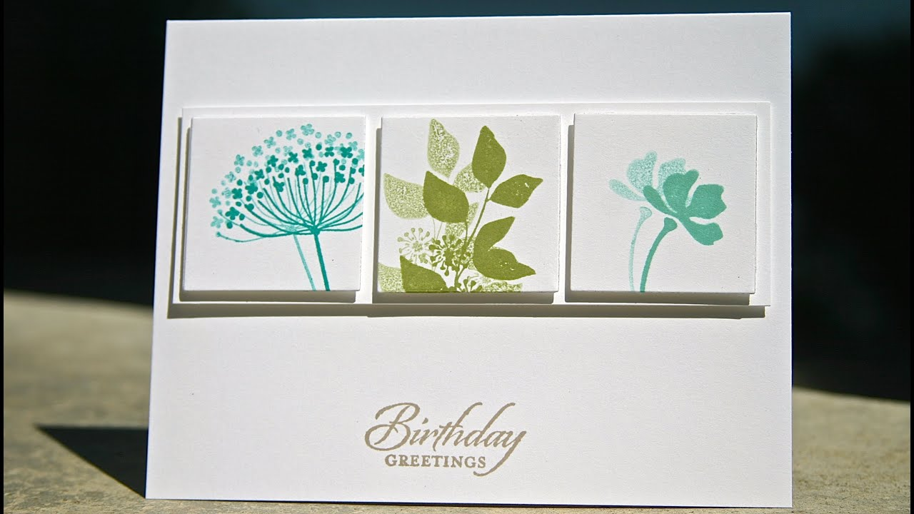 Stampin Up Birthday Card Using Summer Silhouettes YouTube