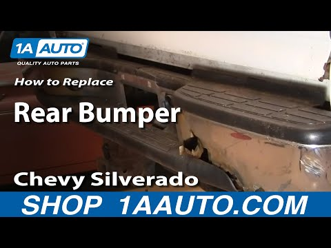 How To Install Replace Rusted Damaged Rear Bumper Chevy Silverado GMC Sierra 00-06 1AAuto.com