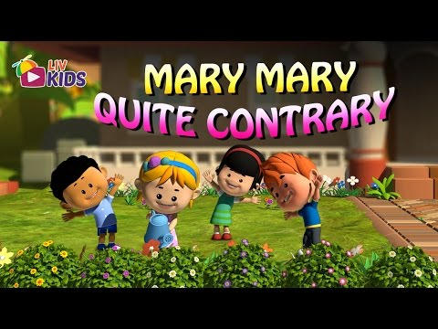 Mary Mary Quite Contrary | English Nursery Rhymes with Lyrics | Popular Kids' Songs