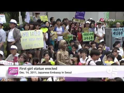 Korea Today - Korean students erect comfort women statue위안부 역사의 얼굴, 소녀상