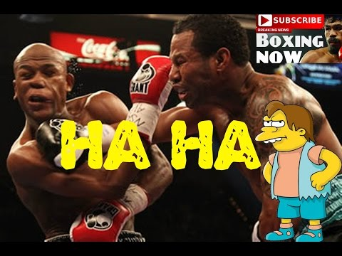 Floyd Mayweather Screams After Punch From Shane Mosley