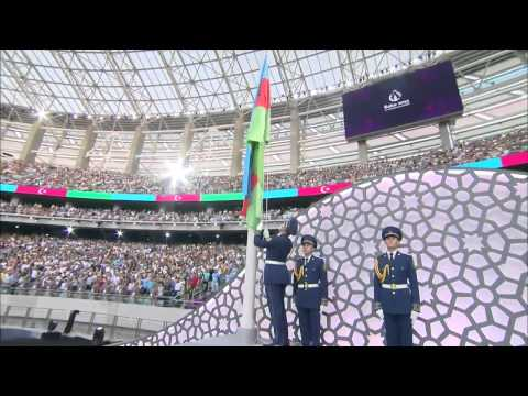 Azerbaijan National Anthem at Baku2015 First European Games - Closing Ceremony