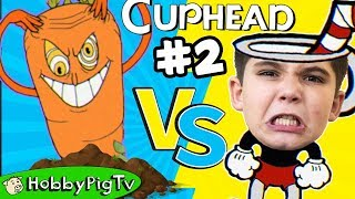 Cuphead Carrot, Potato and Frog Bosses! HobbyPigTV