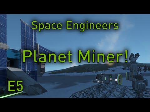 Space Engineers Planets - EP5 - Atmospheric Mining Ship (Space Engineers Planets Gameplay)
