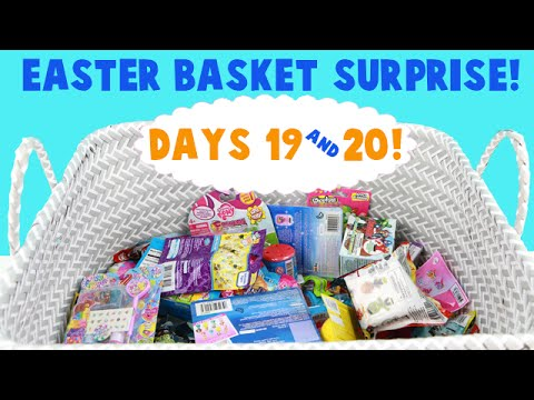 Surprise Easter Basket! Opening Blind Bag Toys! Days 19 and 20!