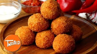 How To Make Chicken Fajita Arancini | Chicken Fajita Recipes | Appetizer Ideas | Twisted