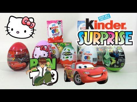 Cars Movie Hello Kitty Rio 2 Ben 10 Kinder Surprise Egg