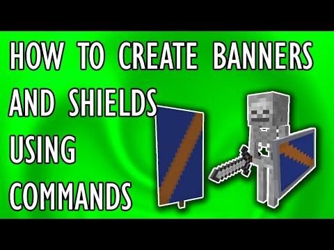 HOW TO CREATE BANNERS & SHIELDS Using Commands Blocks | Minecraft 1.9 Tutorial