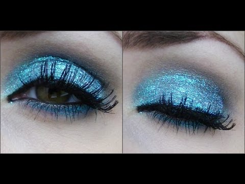 Blue Glitter Makeup Tutorial