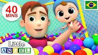 Um Dia no Parquinho, Meu Novo Irmãozinho e Mais! | + Vídeos Infantis | Little Angel Português